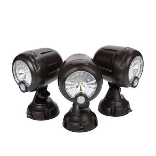 Extra 40% Off Mr. Beams Motion Sensing  Spotlights 3-Pack on HSN