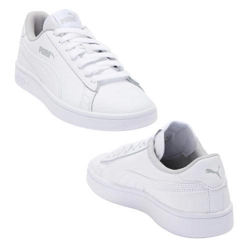 Over 30% Off White Leather Puma Sneakers for Juniors