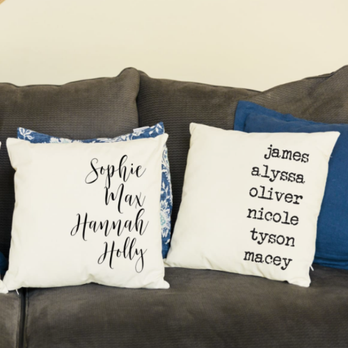 $9.99 Personalized Throw Pillow Cover