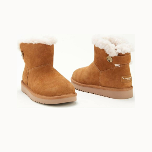 Almost 50% Off Koolaburra by UGG Suede Button Mini Boots on QVC