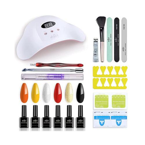 50% OFF Glitter Gel Polish Kit on Amazon