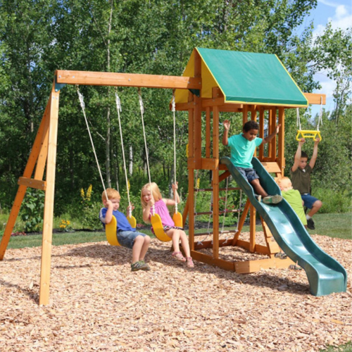 Over $200 Off KidKraft Wooden Swing Set on Zulily