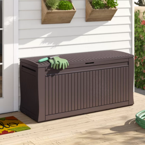 Only $54.18 Keter Comfy 71 Gallons Deck Box