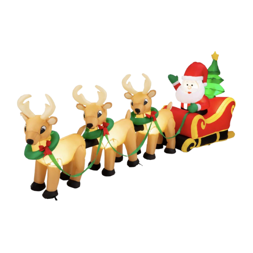 $50 OFF Santa Claus & Reindeer Christmas Inflatable on BCP