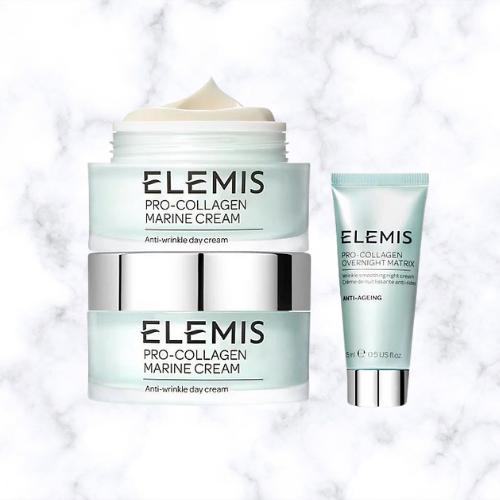 OVER $100 OFF ELEMIS Pro-Collagen Marine Cream Duo & Travel Matrix on QVC