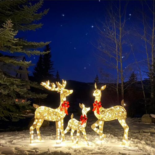 Over $100 Off Lighted Christmas Deer Set on BCP