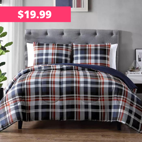 75% Off Hallmart Collectibles Jeremy Reversible Comforter Set at Macy's
